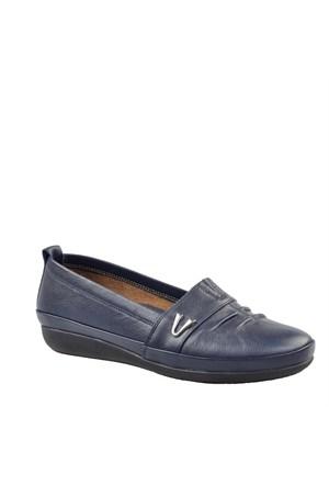 Cabani Comfort Günlük Kadın Ayakkabı Lacivert Deri