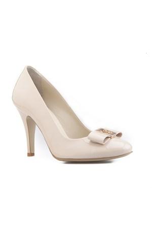 Cabani Topuklu Günlük Kadın Ayakkabı Bej Rugan