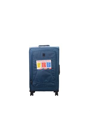 IT Luggage World Lightest Octopush Orta Boy Seyahat Valiz Mavi Deri