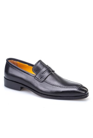 Rockford %100 El Yapımı Klasik Erkek Ayakkabı Siyah Analin Deri