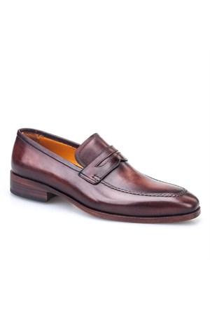 Rockford %100 El Yapımı Klasik Erkek Ayakkabı Kahve Analin Deri