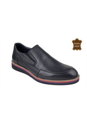 Wolfland 161 K 13 Siyah Klasik Erkek Ayakkabı
