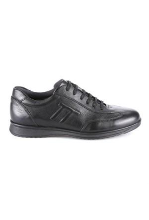 Flogart 510 M 1300 Siyah Erkek Deri Ayakkabı
