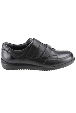 Flogart 514 M 1300 Siyah Erkek Nubuk Deri Ayakkabı