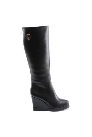 Miss F F17128 Siyah Kadın Çizme