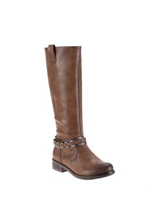 Polaris 52.308068.Z Taupe Kadın Çizme
