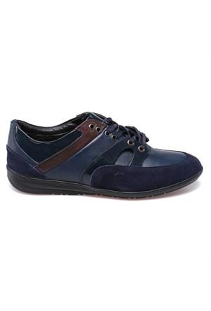 Salvano 59579-5 M 1910 Kahverengi Lacivert Erkek Deri Ayakkabı