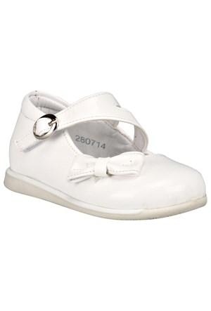 Pink Step Fıora-2 Beyaz Kız Çocuk Babet