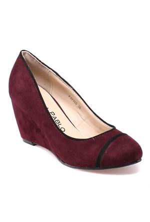 Errica Pablo F17165 Bordo Kadın Ayakkabı