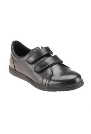 Yellow Kids YK008 Siyah Erkek Çocuk Deri Ayakkabı