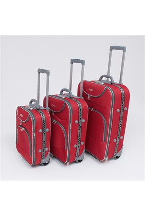 Donnay 3'lü Valiz Seti Kırmızı - 4026
