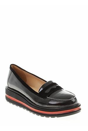 Derigo Siyah Rugan Kadın Ayakkabı 22181504