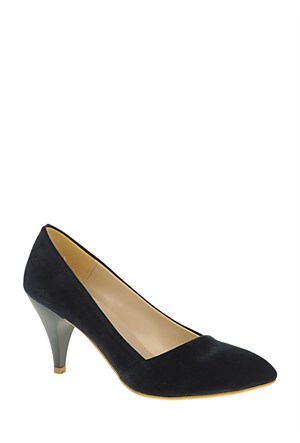 Derigo Lacivert Süet Kadın Ayakkabı 181802
