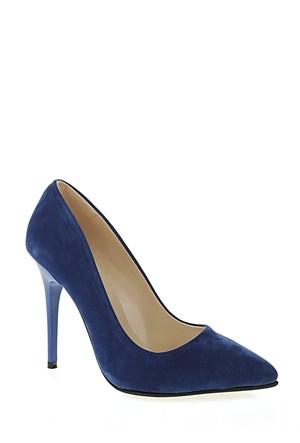 Derigo Mavi Süet Kadın Ayakkabı 231804