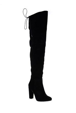 Derigo Siyah Süet Kadın Çizme 241806