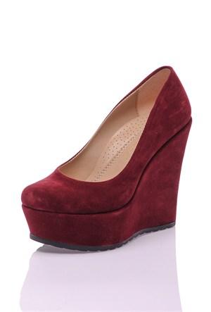 Dnc Bordo Süet Kadın Ayakkabı 10210107