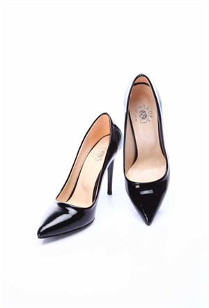 Shoes&Moda Siyah Rugan Kadın Stiletto Ayakkabı 509 6 Nz015201