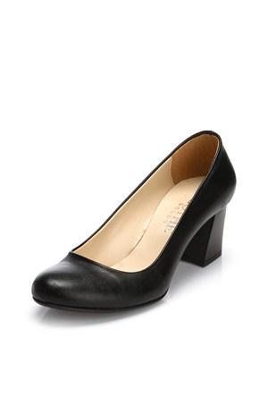 Sothe MAS-016 Siyah Bayan Klasik Topuklu Ayakkabı