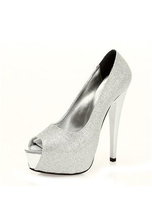 Sothe MAS-012 Gümüş Bayan Platformlu Ayakkabı