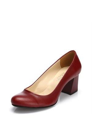 Sothe MAS-016 Bordo Bayan Klasik Topuklu Ayakkabı
