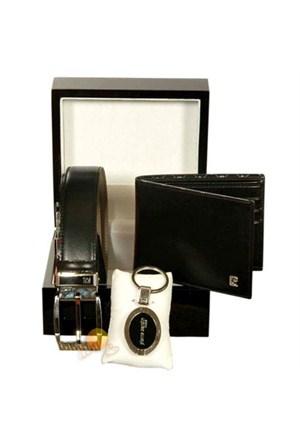 Pierre Cardin 03 Cüzdan & Kemer & Anahtarlık Set