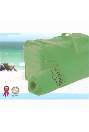 Seryat Plaj Çantası (plaj Hasırı Ve Yastığı Hediyeli) Yeşil