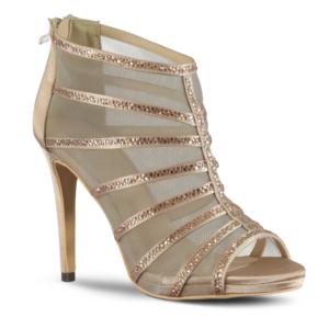 marjin ninle topuklu abiye ayakkabı pudra - 36 - pudra