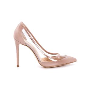 rouge kadın siyah rugan ayakkabı 171rgk114 4741 - 37 - pudra