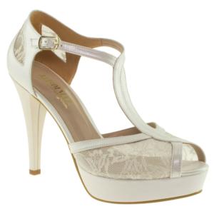 alisolmaz 0350 dantel beyaz kadın abiye ayakkabı - 35 - beyaz