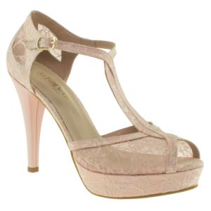 alisolmaz 0350 dantel beyaz kadın abiye ayakkabı - 36 - pembe