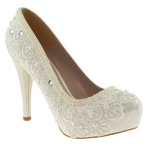 ali solmaz 2818 boncuk isleme gelin beyaz kadın ayakkabı - 35 - beyaz