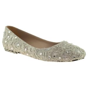 alisolmaz 2835 dantel altın kadın abiye ayakkabı - 36 - gümüş
