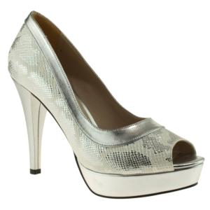 ali solmaz 3093 topuklu gri kadın abiye ayakkabı - 36 - gri