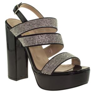 alisolmaz 3097 taşli platform abiye ayakkabı siyah kadın abiye ayakkabı - 38 - siyah