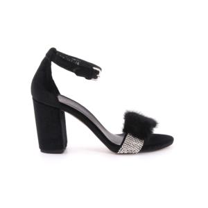 rogue kadın siyah kadife abiye ayakkabı - 38 - siyah