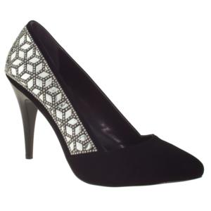 alisolmaz 3052-1 yanlar sıra tas klasik siyah kadın abiye ayakkabı - 40 - siyah