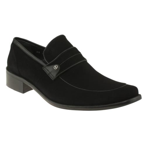 Fosco 6592 Sade Bantli Klasik Siyah Erkek Ayakkabı