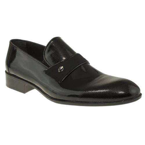 Banner 11029 Saten Manset Mokasen Klasik Siyah Erkek Ayakkabı