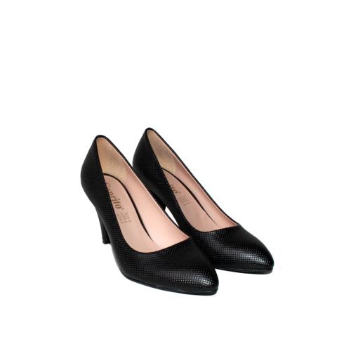 Oflaz Siyah Klasik Bayan Ayakkabı-Y1131