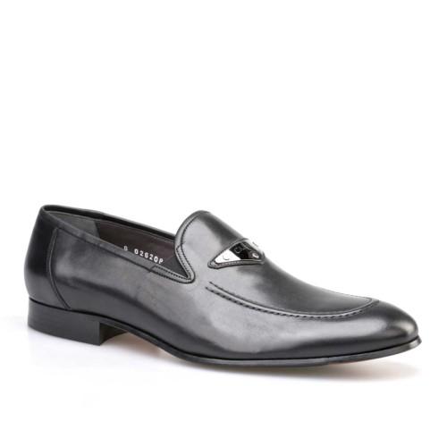 Cabani Tokalı Klasik Erkek Ayakkabı Siyah Analin Deri