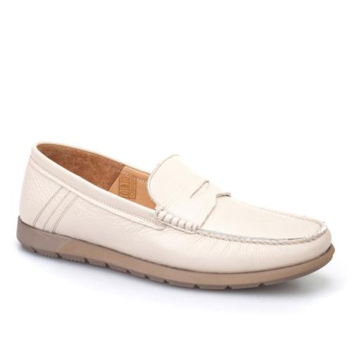 Cabani Kemerli Günlük Erkek Ayakkabı Bej Kırma Deri