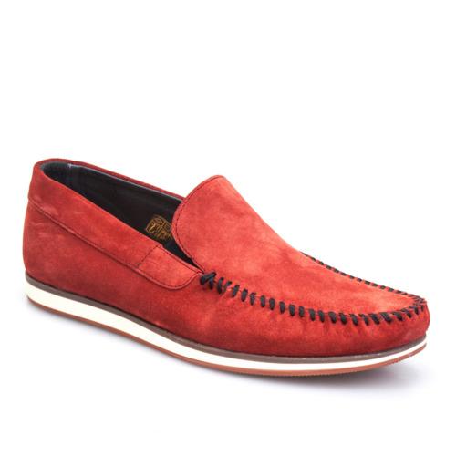 Cabani Bağcıksız Günlük Erkek Ayakkabı Bordo Süet