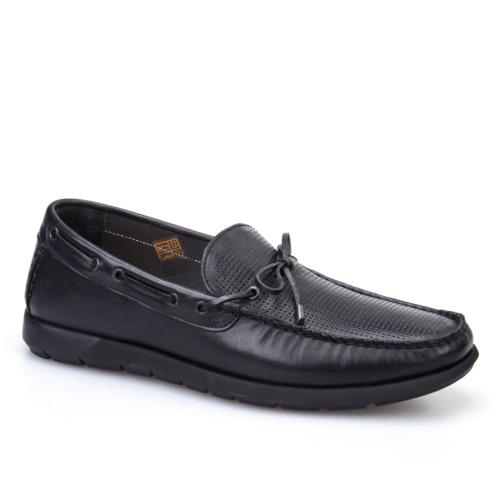 Cabani Marin Tekne Günlük Erkek Ayakkabı Siyah Deri