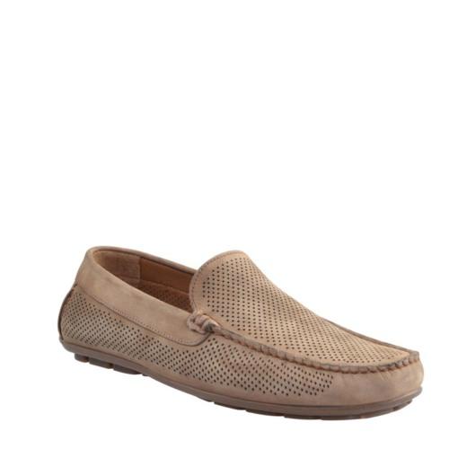 Cabani Lazerli Makosen Günlük Erkek Ayakkabı Vizon Nubuk