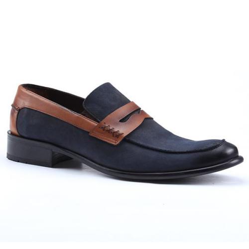 Nevzat Zöhre 1076 %100 Deri Süet Günlük Klasik Erkek Ayakkabı