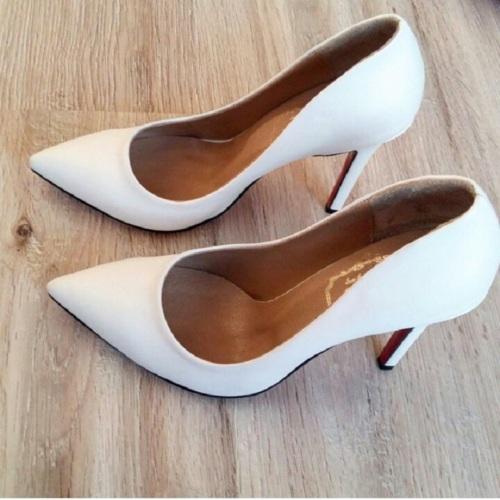 Modabuymus Beyaz Stiletto Modeli