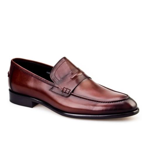 Cabani Klasik Erkek Ayakkabı Taba Analin Deri