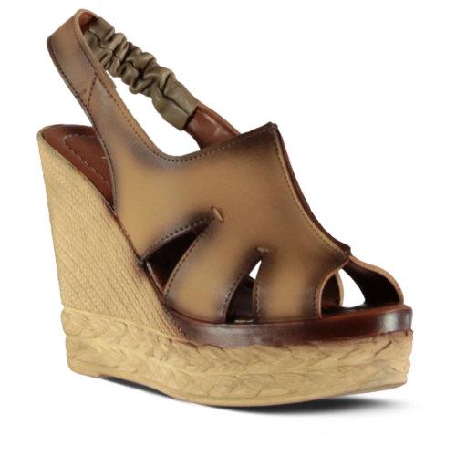 Marjin Versia Topuklu Sandalet Vizon