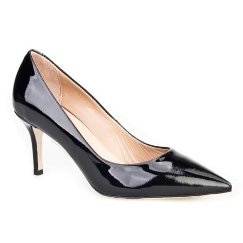 Cabani Stiletto Klasik Kadın Ayakkabı Siyah Rugan