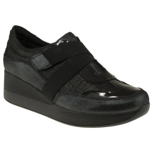 Venus 20409 Casual Çapraz Cirtli Siyah Kadın Ayakkabı